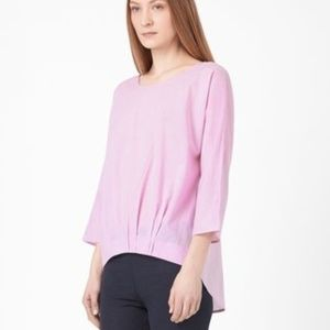 COS by H&M Pleated Hem Top Pink